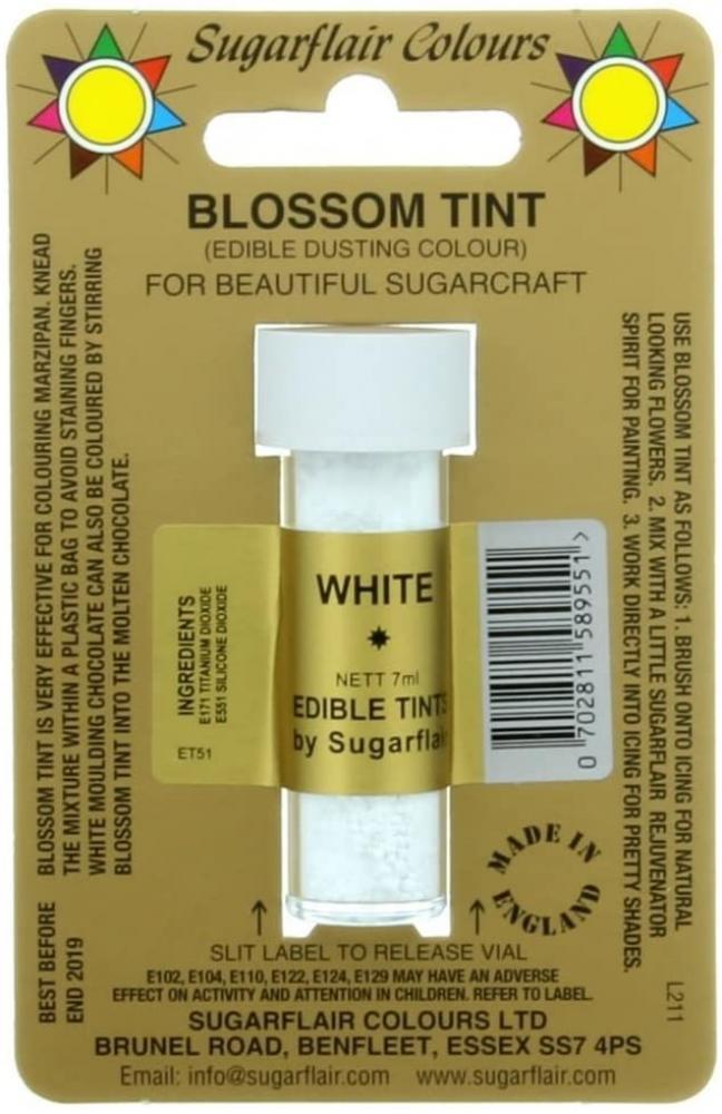 Sugarflair Colours White Edible Powder 7ml