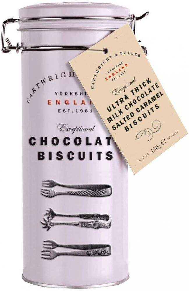 Cartwright and Butler Ultra Thick Milk Chocolate Salted Caramel Biscuit Tin 190g