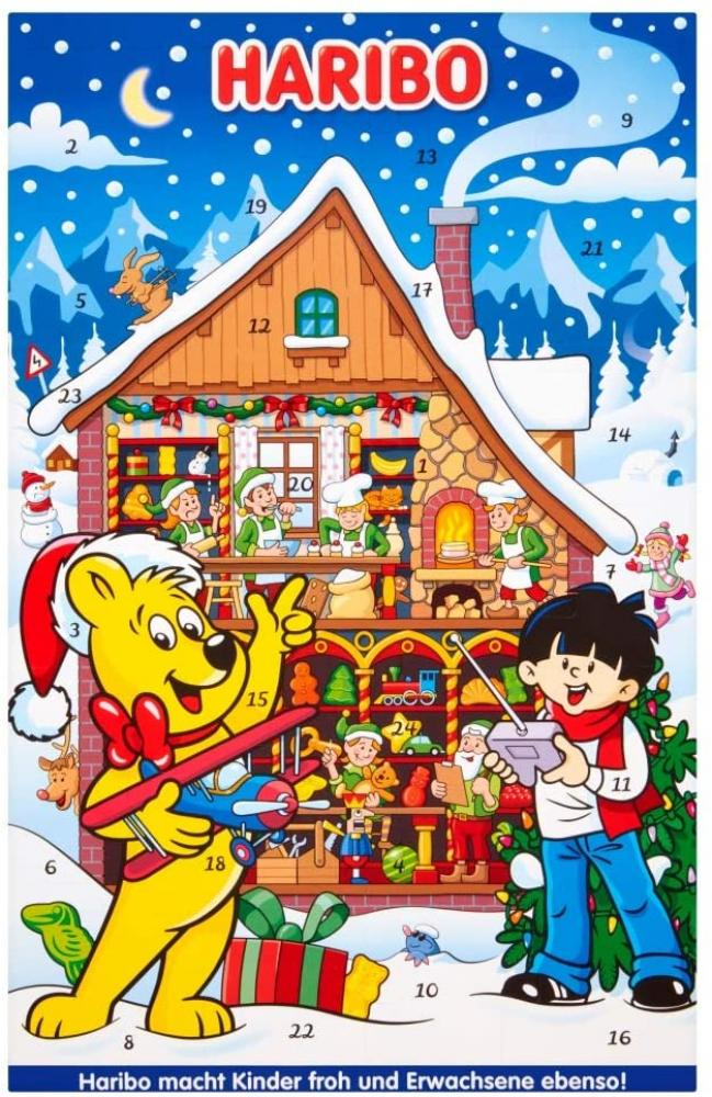 Haribo Advent Calendar Christmas Sweets Gift 300g Damaged Box