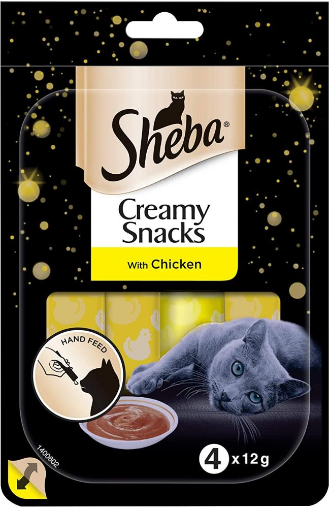 Sheba Creamy Snacks With Chicken 4x12g