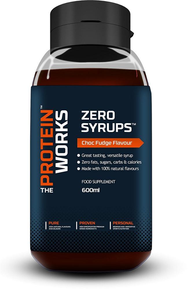 The Protein Works Choc Fudge Zero Syrup 600ml