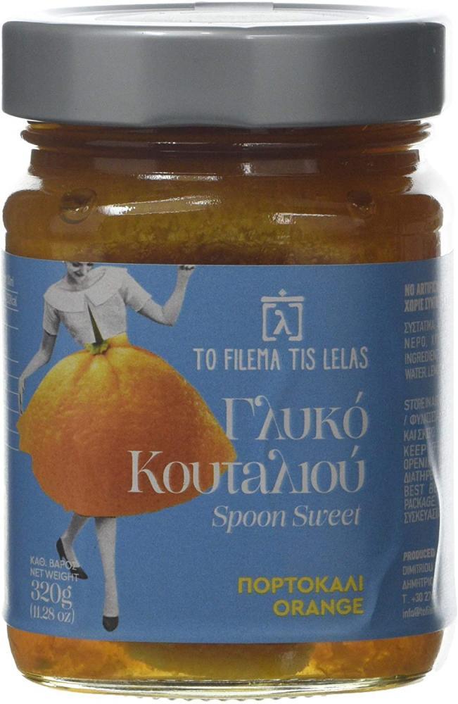 To Filema Tis Lelas Handmade Spoon Sweet 78 Percent Orange 320g