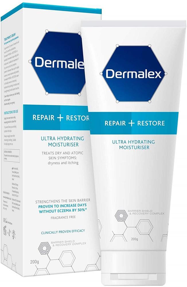 Dermalex Repair plus Restore - Ultra Hydrating Moisturiser Cream for Dry Skin 200 g