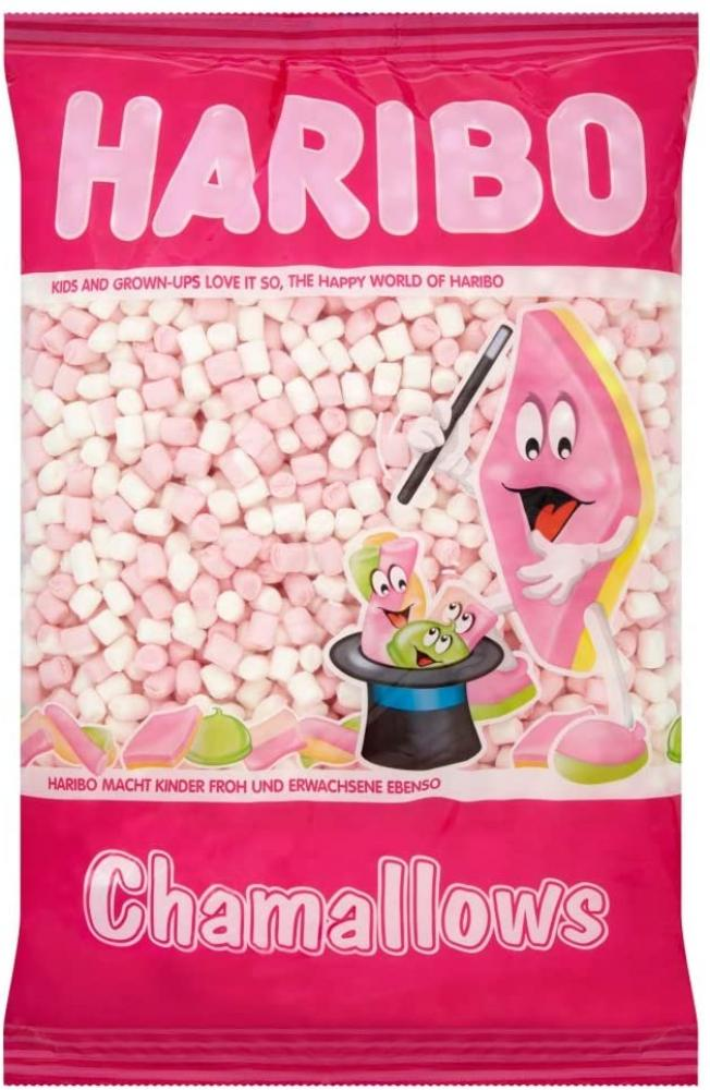 Haribo Mini Marshmallows Pink and White 1kg
