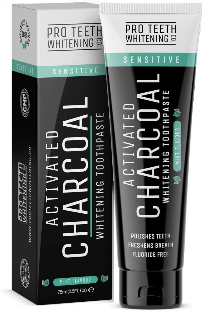 Pro Teeth Whitening Co Activated Charcoal Sensitive Whitening Toothpaste 75 ml