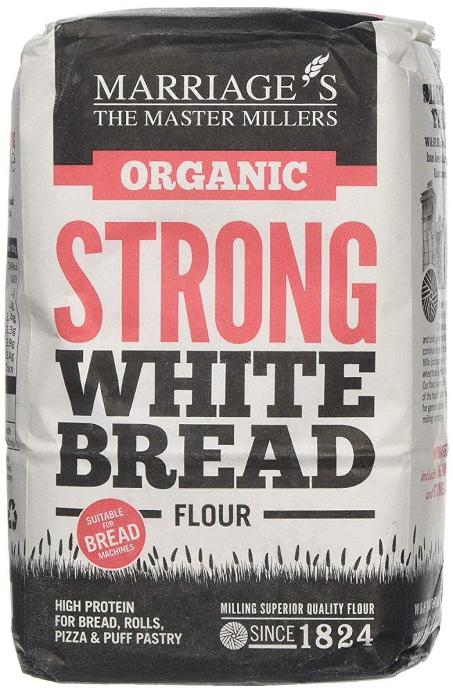 Marriage and Son Organic Strong White Bread Flour 1 kg
