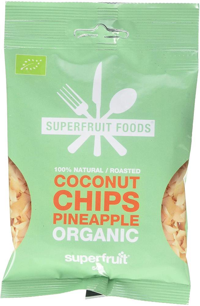 Superfruit Foods Organic Coconut Chips Pineapple 50 g