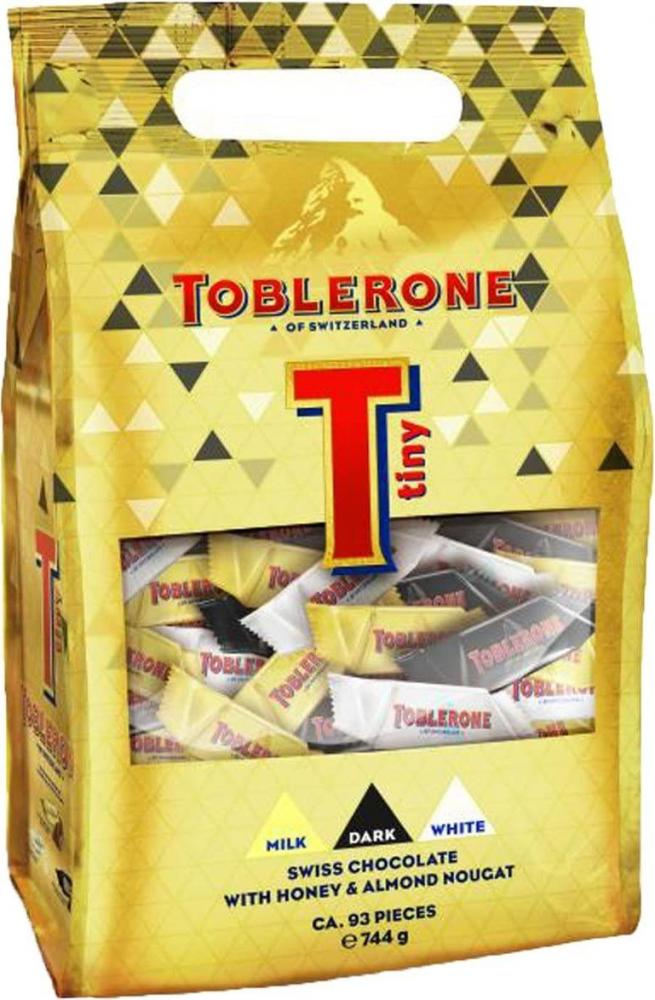 Toblerone Tiny Milk White and Dark Chocolate 93 Pieces 744g