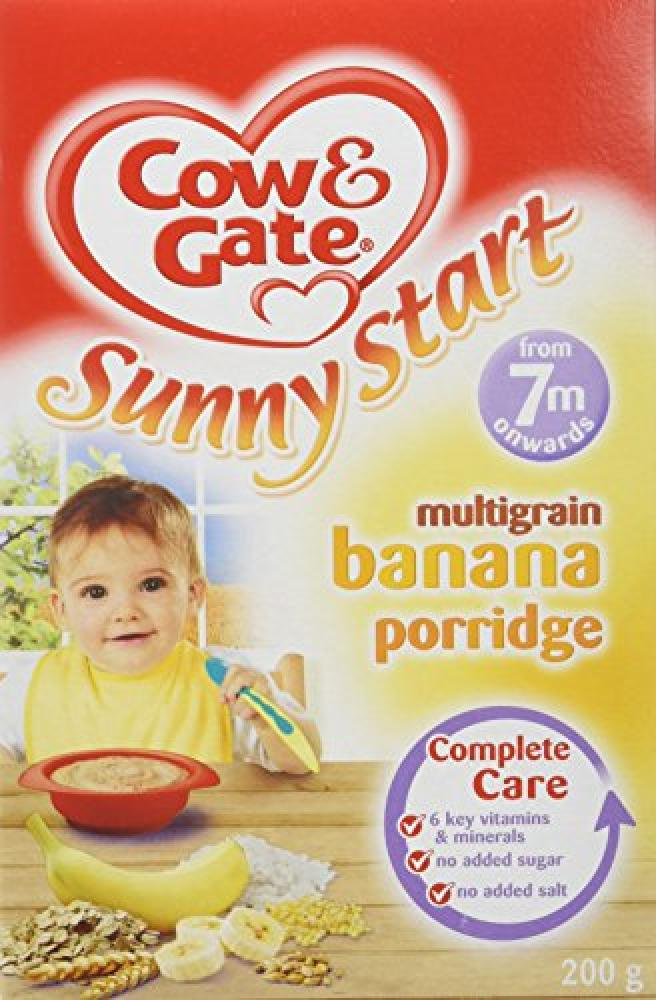 Cow and Gate 7 Months Sunny Start Multigrain Banana Porridge 200 g