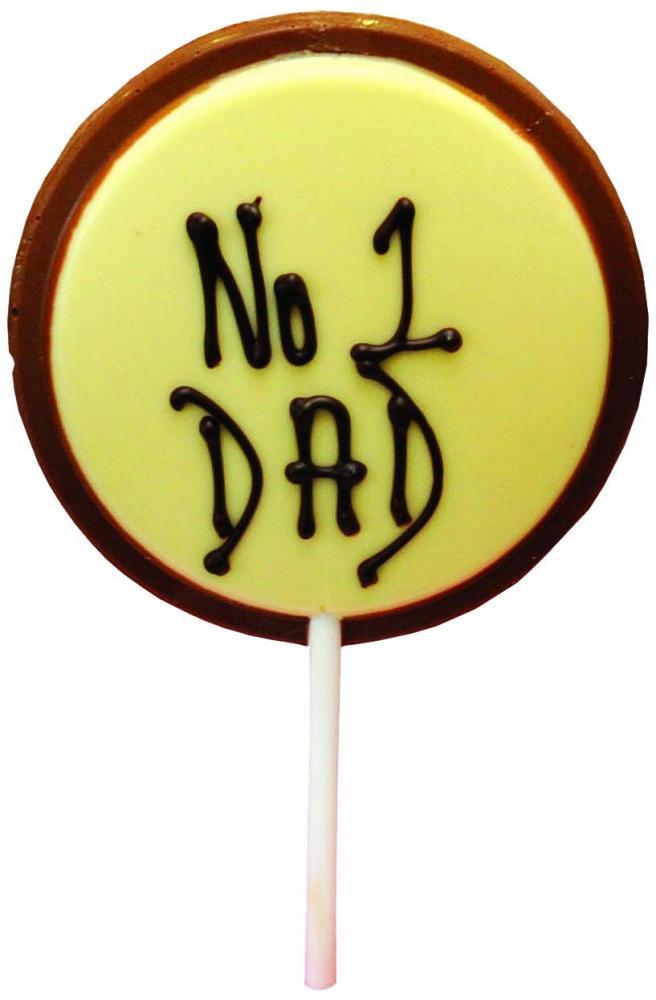 Creme dOr Number 1 Dad Chocolate Lillipop 50g