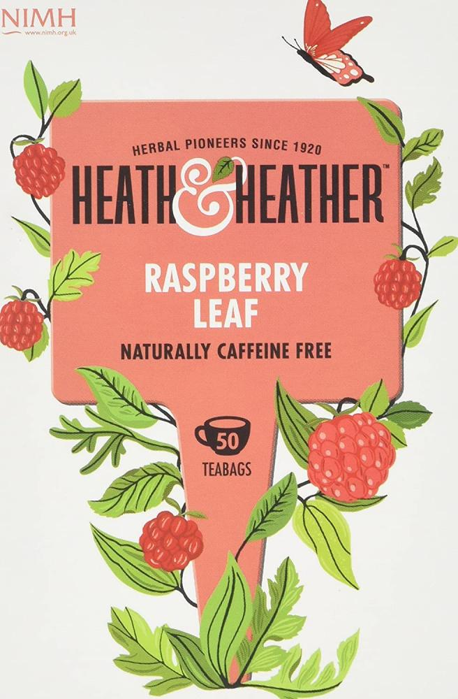 Heath and Heather Raspberry Leaf Tea 50 teabags Damaged Box