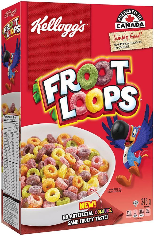 Kelloggs Froot Loops Regular Size 345g