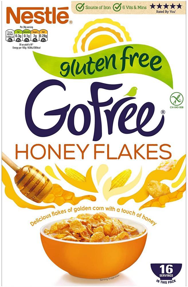 Nestle GoFree Honey Flakes Gluten Free Cereal 500g