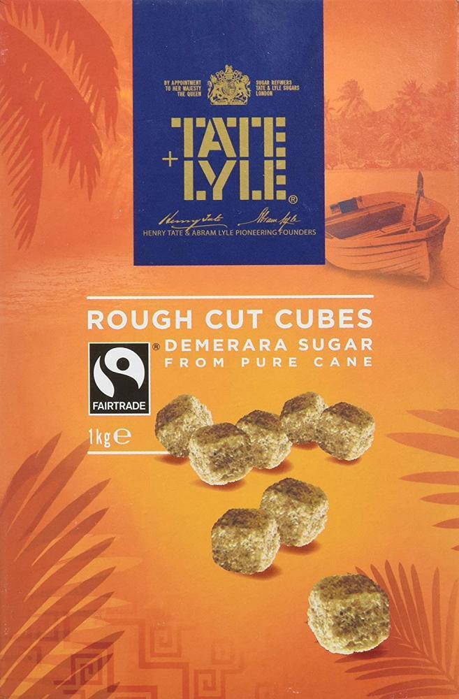 Tate and Lyle Fairtrade Demerara Rough Cut Sugar Cubes 1kg