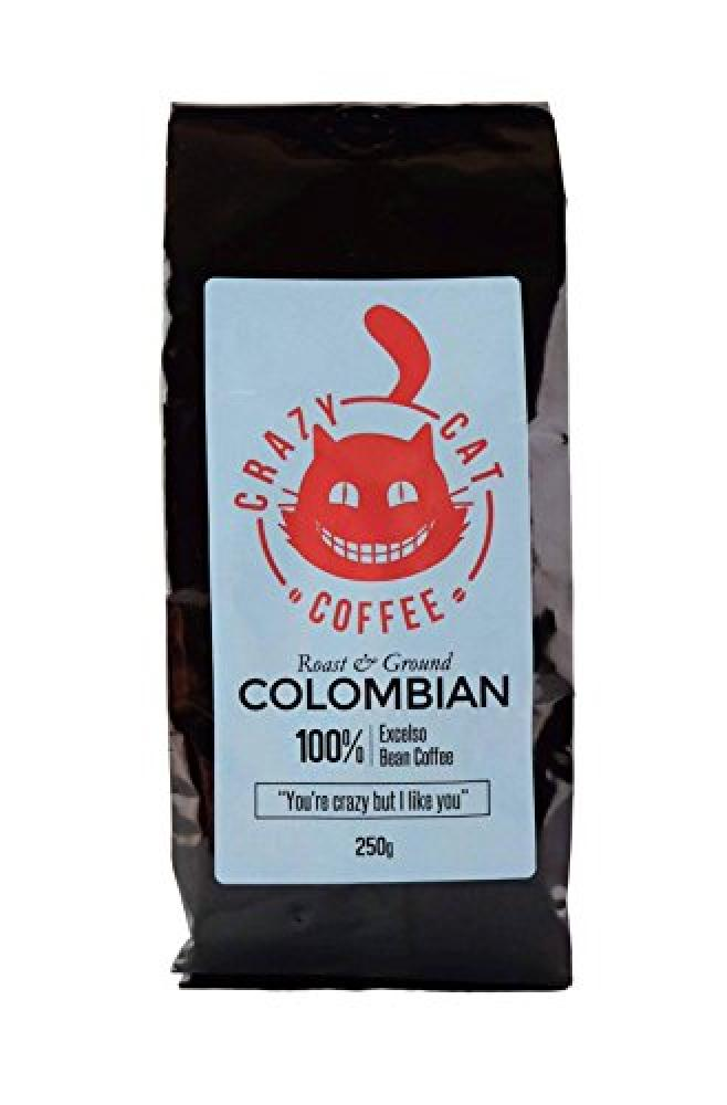 Crazy Cat Coffee Roast and Ground Colombian Coffee 250g