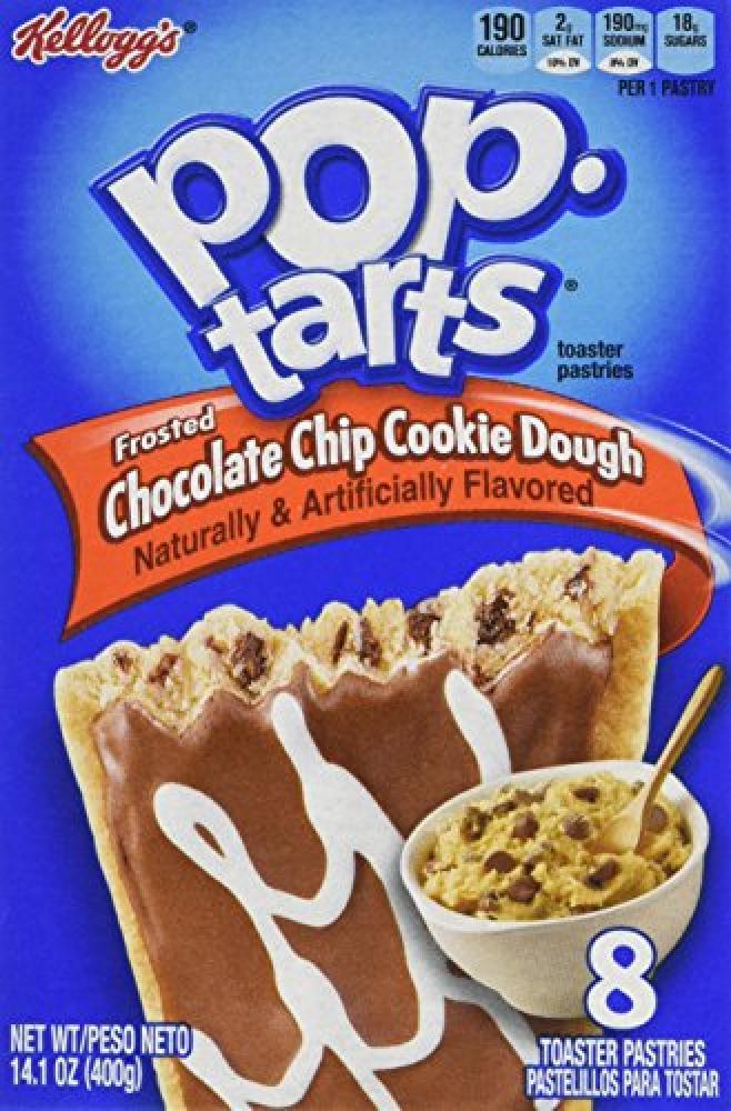 Kelloggs Pop Tarts Chocolate Chip Cookie Dough 400g