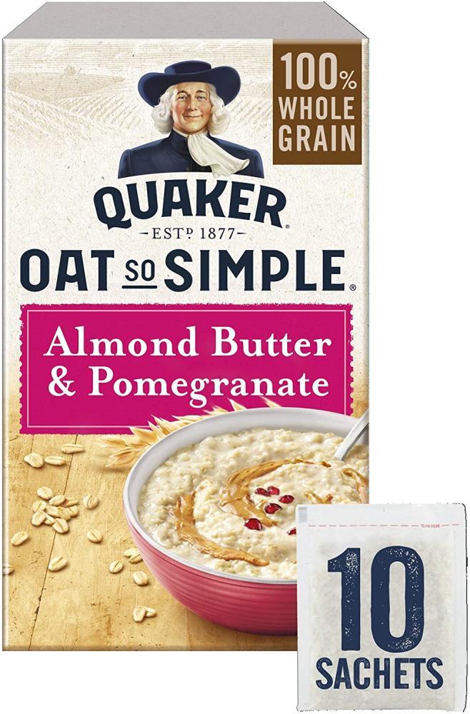 Quaker Oats So Simple Almond Butter and Pomegranate Porridge Sachets 331g
