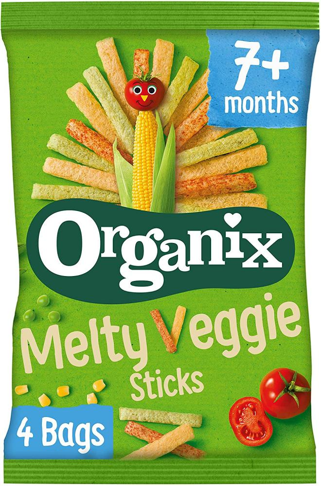 WEEKLY DEAL  Organix Melty Veggie Sticks Organic Baby Finger Food Snack 4 x 15g