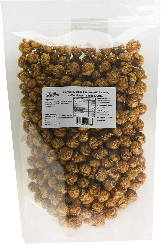 Joe and Sephs Espresso Martini Popcorn Bulk Party Pack 335 g
