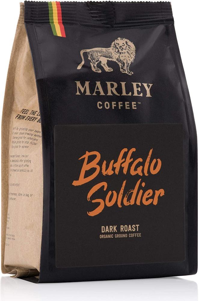 Marley Coffee Buffalo Soldier Dark Roast Organic Ground Coffee 227g