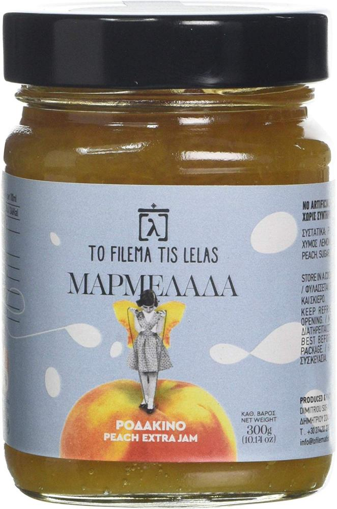 To Filema Tis Lelas Handmade Peach Extra Jam 300g