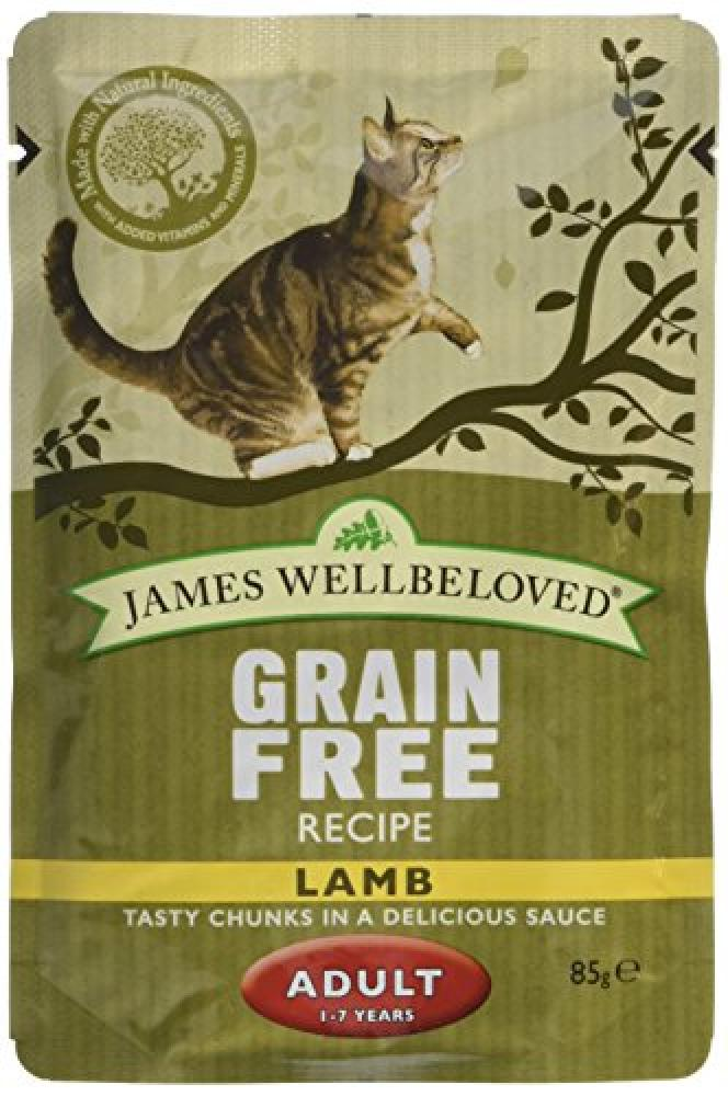 James Wellbeloved Cat Food Adult Lamb Pouch 85 g