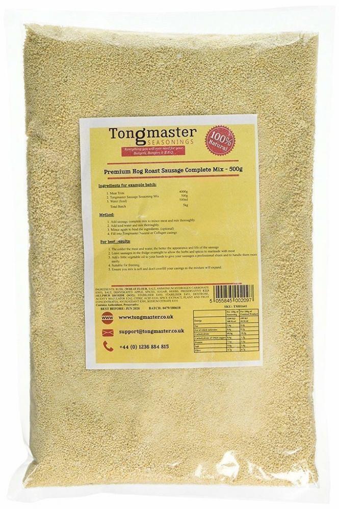 Tongmaster Premium Hog Roat Sausage Complete Mix 500g
