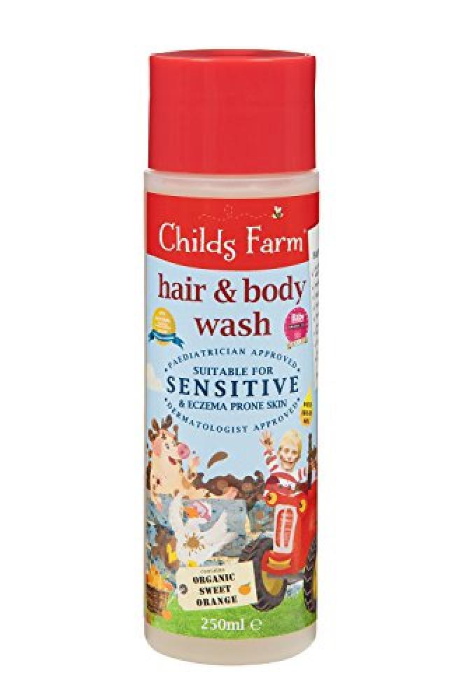 Childs Farm hair and body wash organic sweet orange 250ml