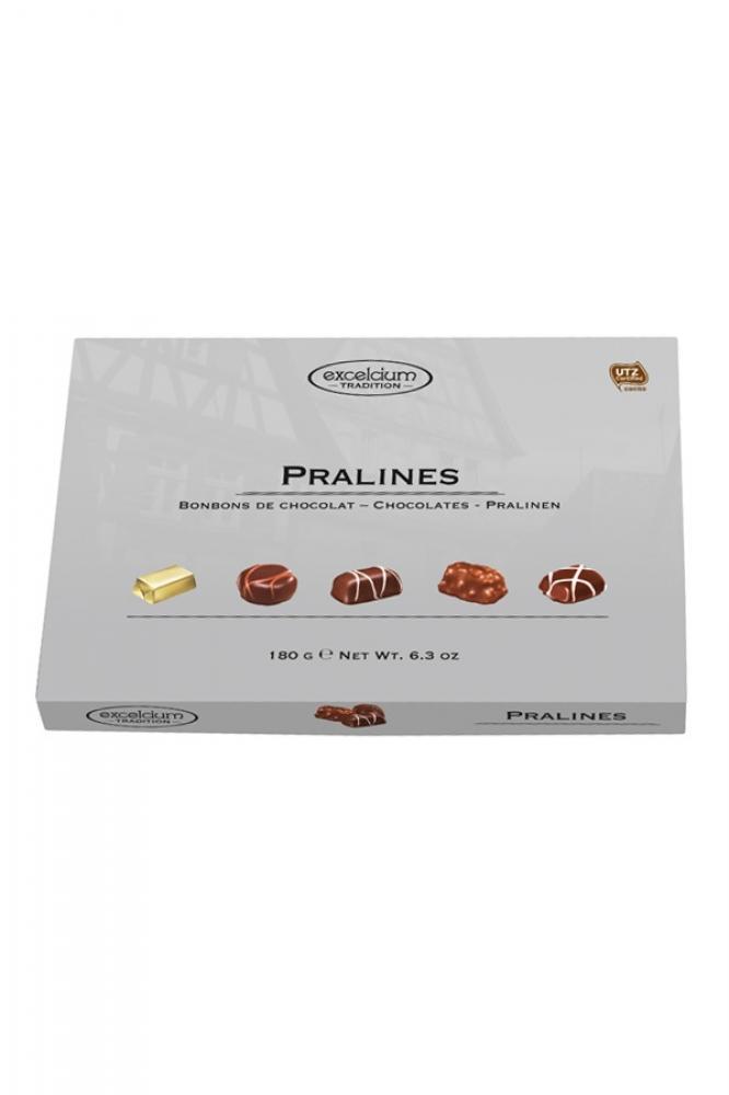 Excelcium Assorted Chocolate Pralines Silver Box 180g