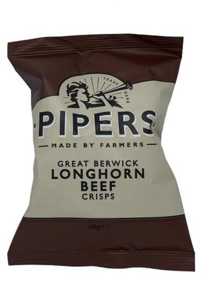 Pipers Crisps Longhorn Beef 40g