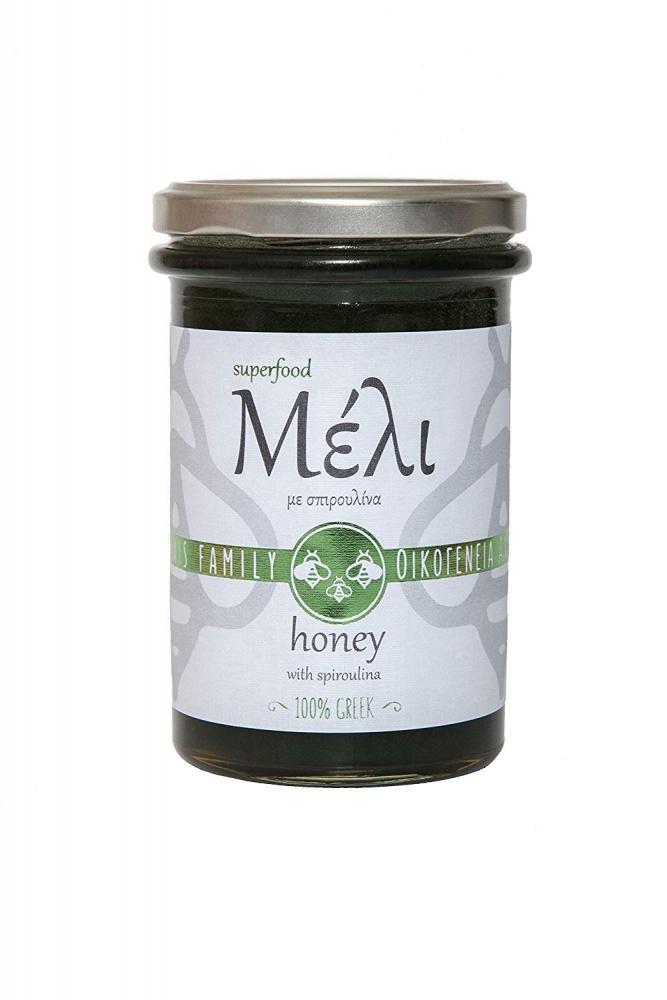 Alabasinis Family Greek Honey with Spirulina 420g