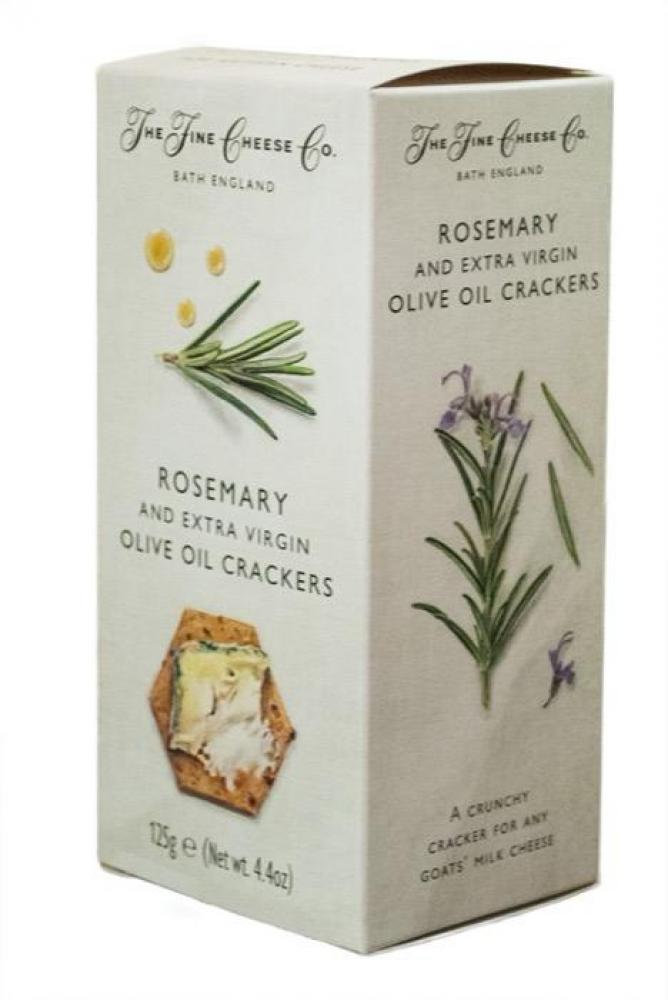 The Fine Cheese Co Rosemary and Extra Virgin Olive Oil Crackers 125g