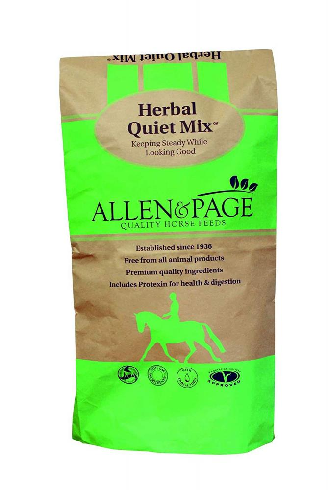 Allen and Page Herbal Quiet Mix Horse Feed 20kg