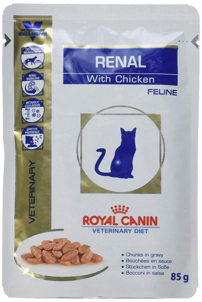 Royal Canin Veterinary Diet Renal Fresh Bags Chicken Cat 85g