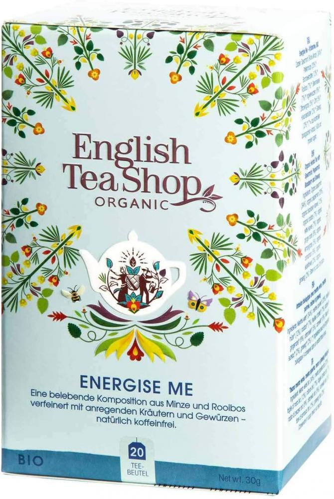 English Tea Shop Organic Fairtrade Energise Me Tea 30g