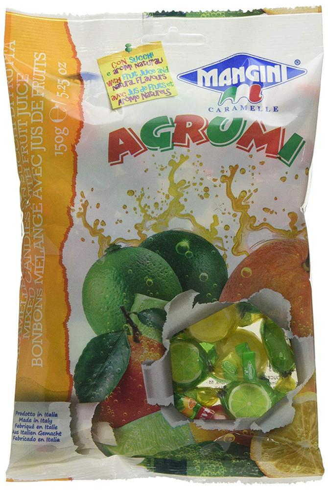 Mangini Agrumi Mixed Candies With Fruit Juice 150g