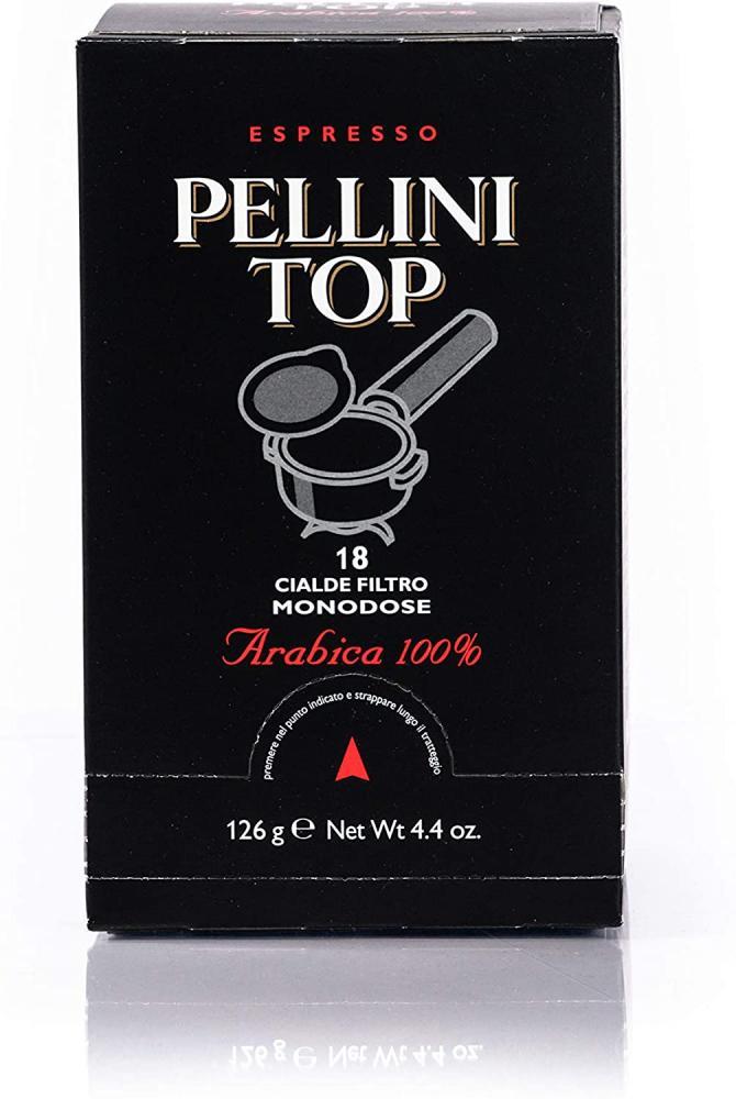 Pellini Top 100 Percent Arabica Coffee Pods Medium Roast Italian Coffee Pods 126g