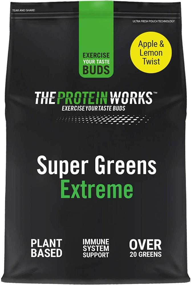 The Protein Works Super Greens Extreme Powder Apple And Lemon Twist 500 g