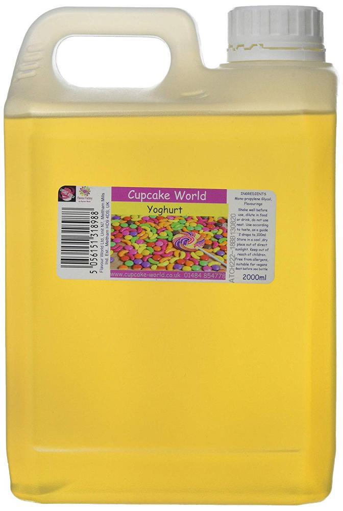 Cupcake World Intense Flavour Range Yoghurt 2L