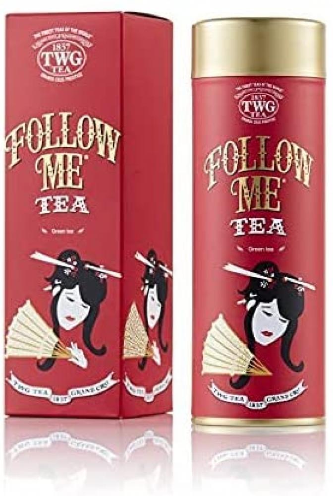 TWG Tea Follow Me Tea Loose Leaf Green Tea Blend in Haute Couture Gift Tea Tin 100g