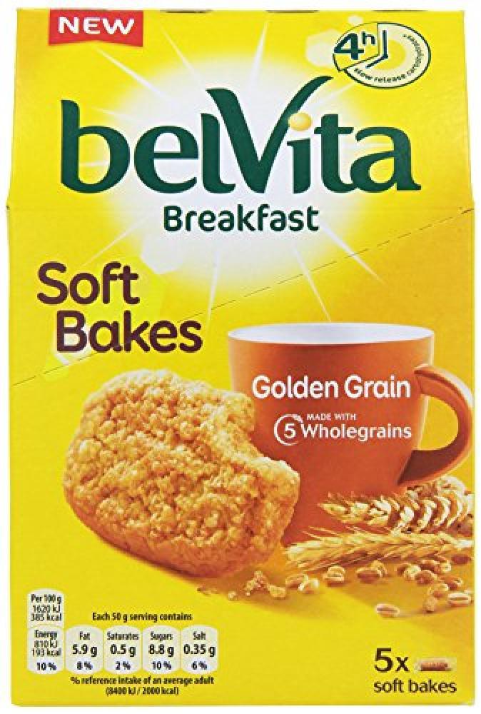 Belvita 5 Soft Bakes Golden Grain 250g