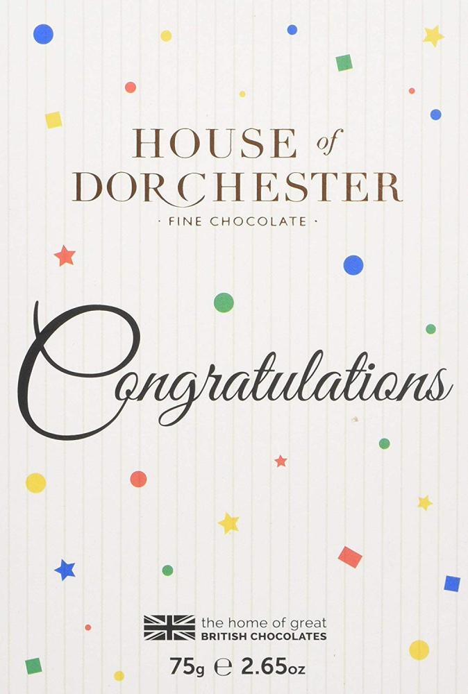 House Of Dorchester Six Chocolates Selection in Congratulations Celebration Book Box 75g