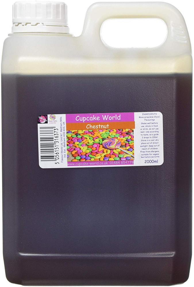 Cupcake World High Strength Food Flavouring Chestnut 2000ml
