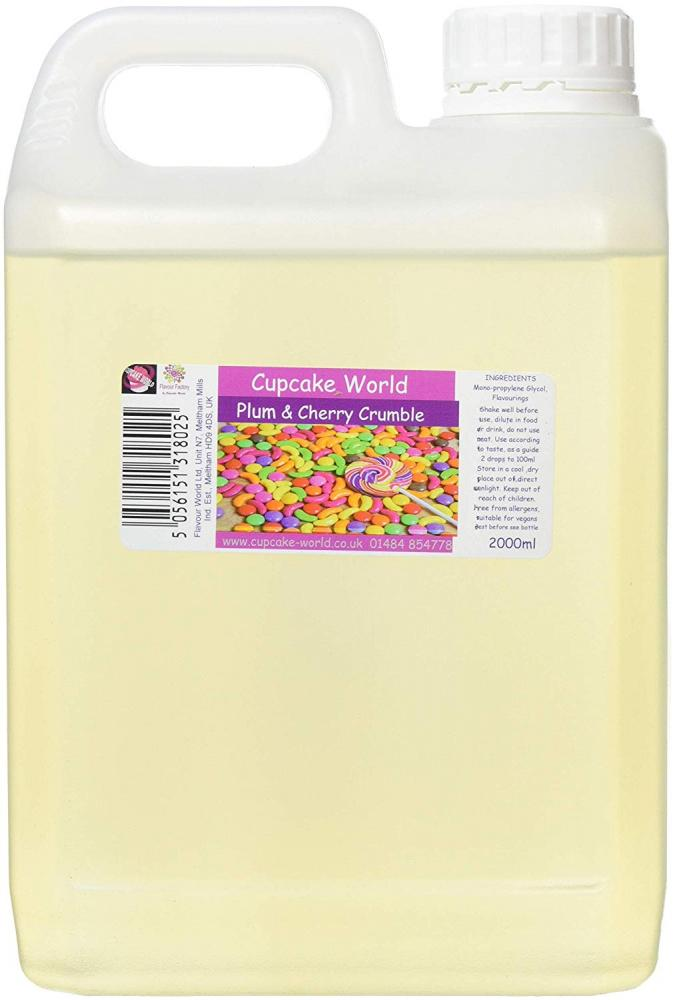 Cupcake World Intense Food Flavouring Plum and Cherry Crumble 2000ml