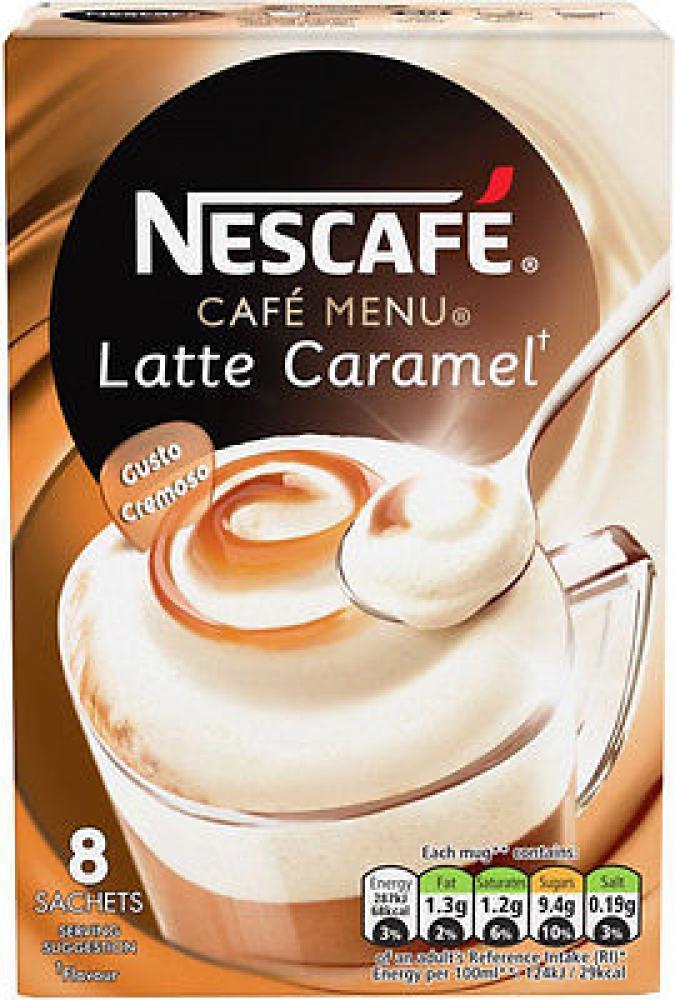 Nescafe Cafe Menu Latte Caramel 8 sachets 136g