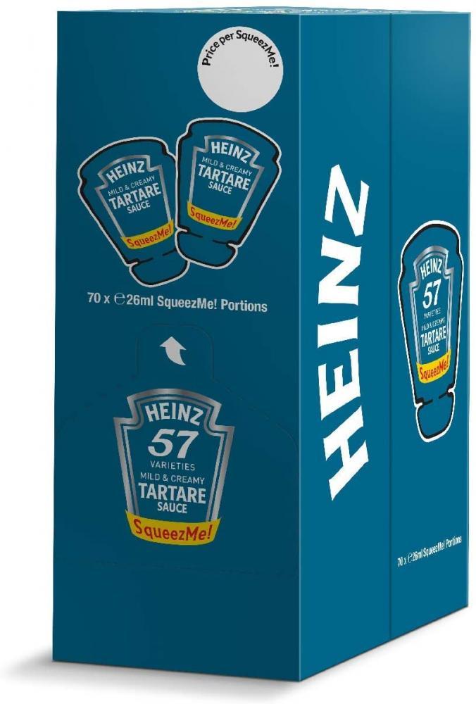 Heinz Tartare Sauce SqueezMe portions 70 x 26 ml