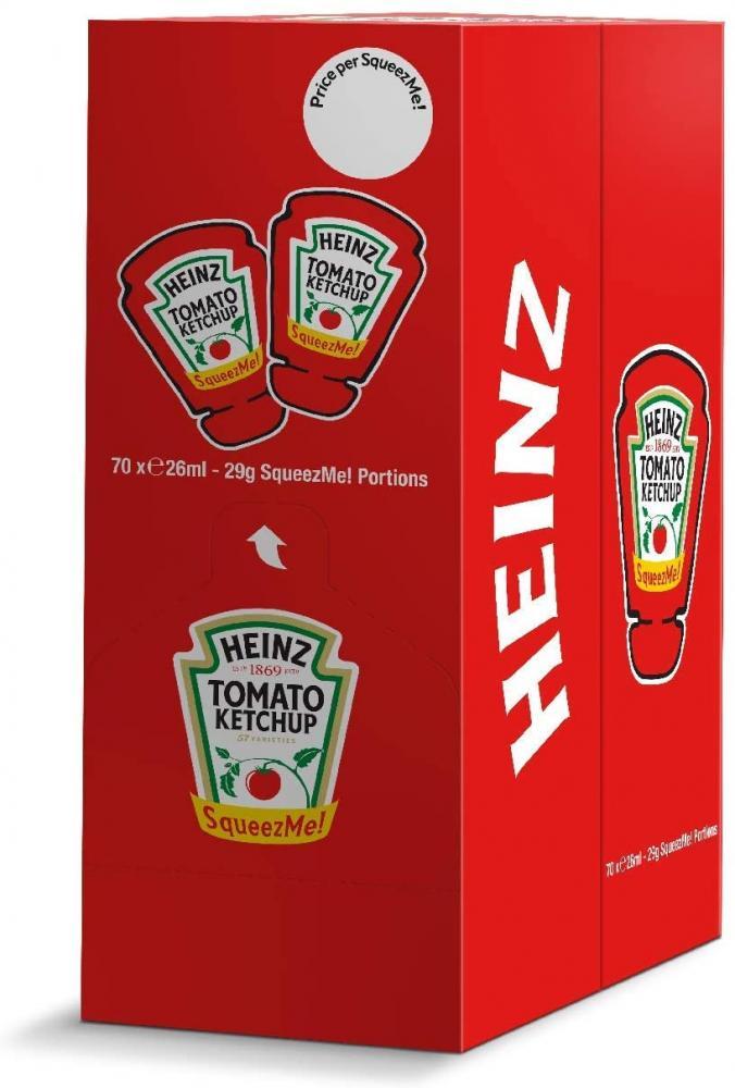 Heinz Tomato Ketchup SqueezMe portions 26ml x 70