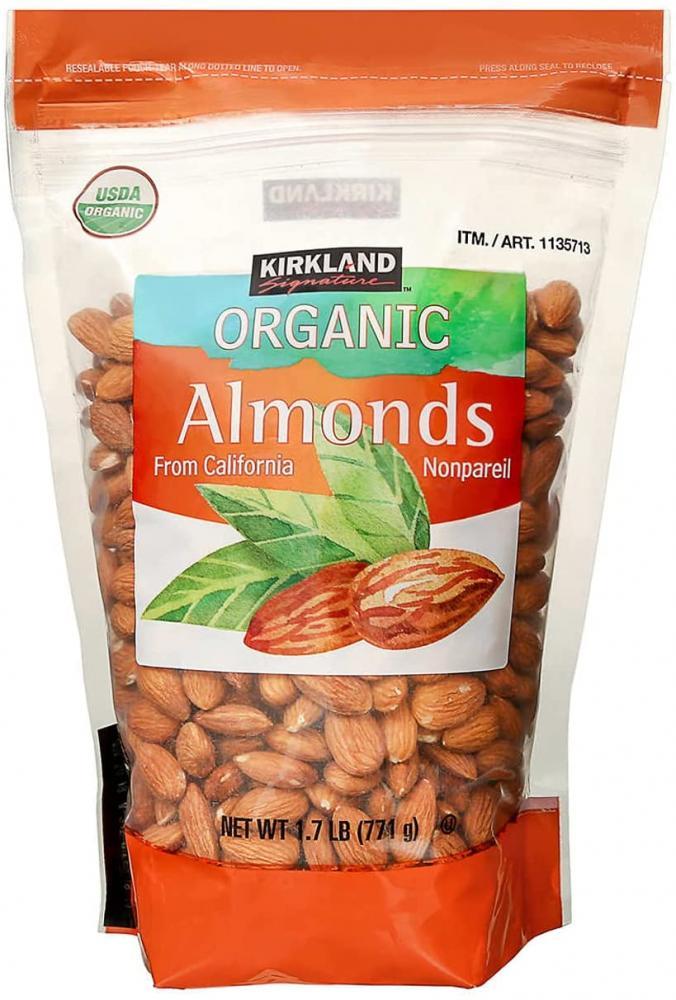 Kirkland Signature Organic Almonds 771g