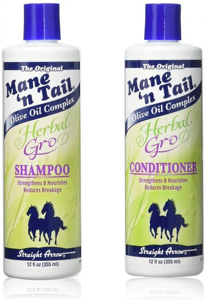 Mane n Tail Herbal Gro Straight Arrow Shampoo and Conditioner Set 2x355ml