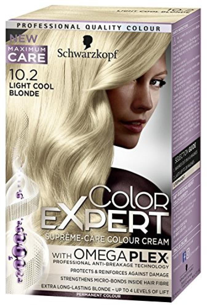 Schwarzkopf Color Expert Omegaplex Hair Dye10-2 Light Cool Blonde Damaged Box